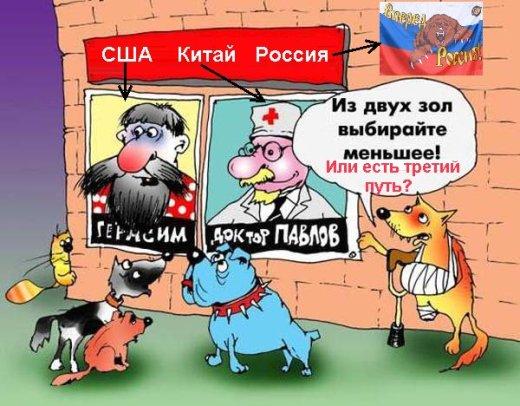 Мировое господства США, Китай, Россия или Павлов, Герасим и Медведь против Му-МУ