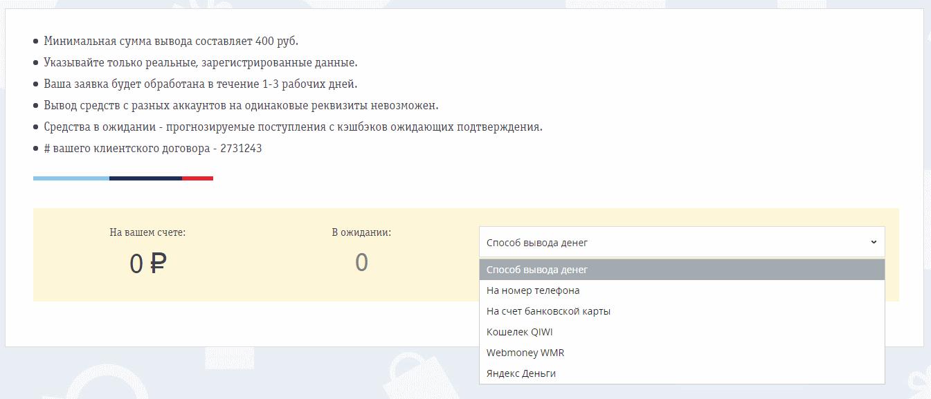 Вывод денег с CashBe.ru